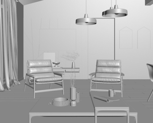 Lifestyle Rendering Scene Snapshot for View Approval