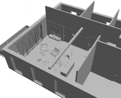 Furniture CG Scene Building