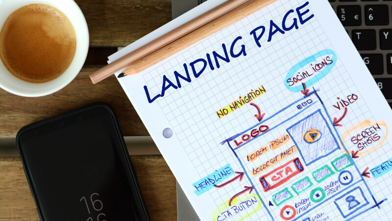 A Sketch of a Landing Page that Can Be Effective for Online Product Promo
