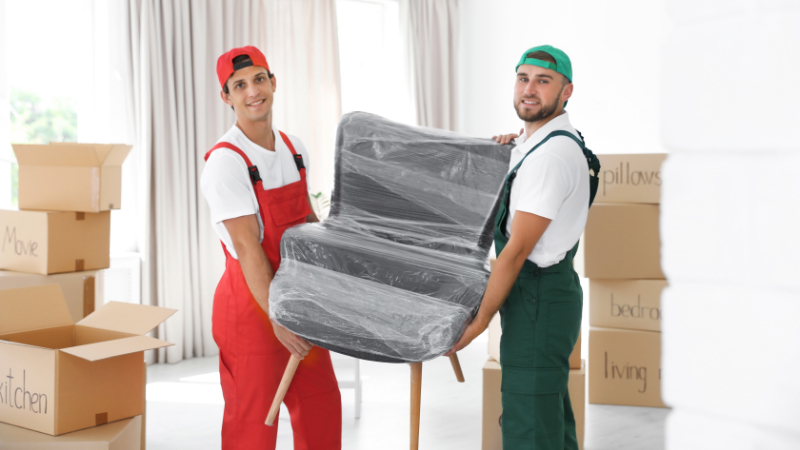 Two Men Delivering Products that Were Promoted and Sold in an Online Store