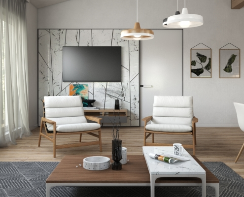 Chairs Design in a Roomset Visualization