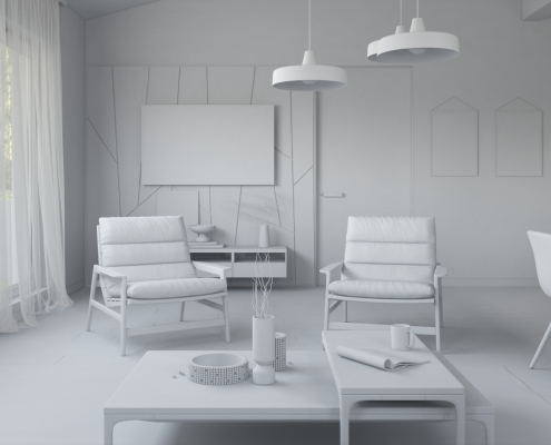 Roomset 3D Visualization with Lighting