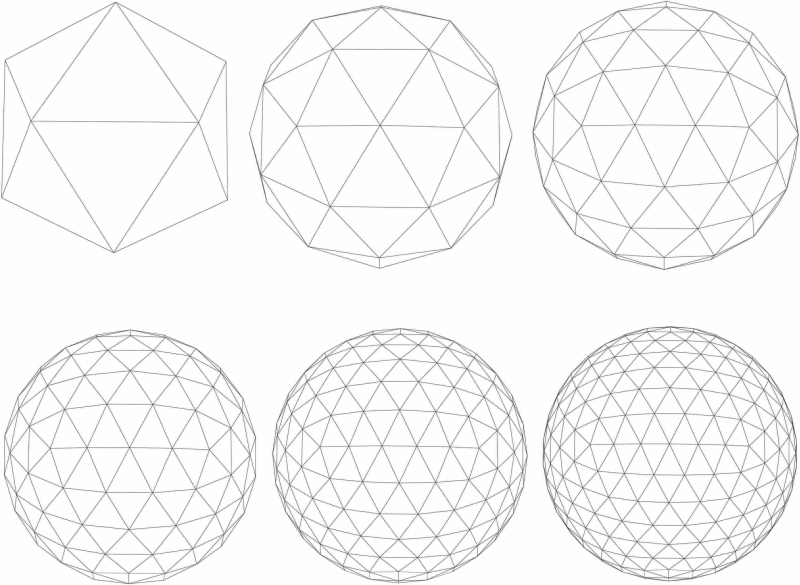 A Graphic Showing What Polygons Are Creating Different 3D Models