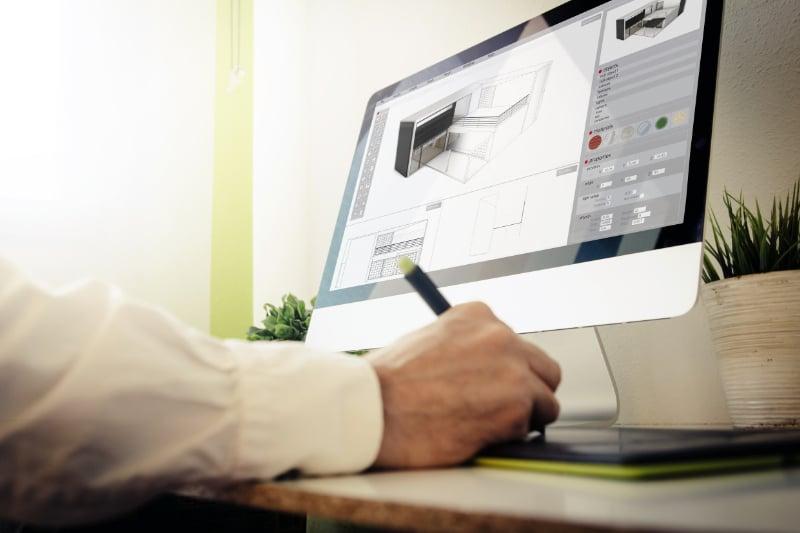 A CG Artist Creating Design Using a 3D Rendering Software