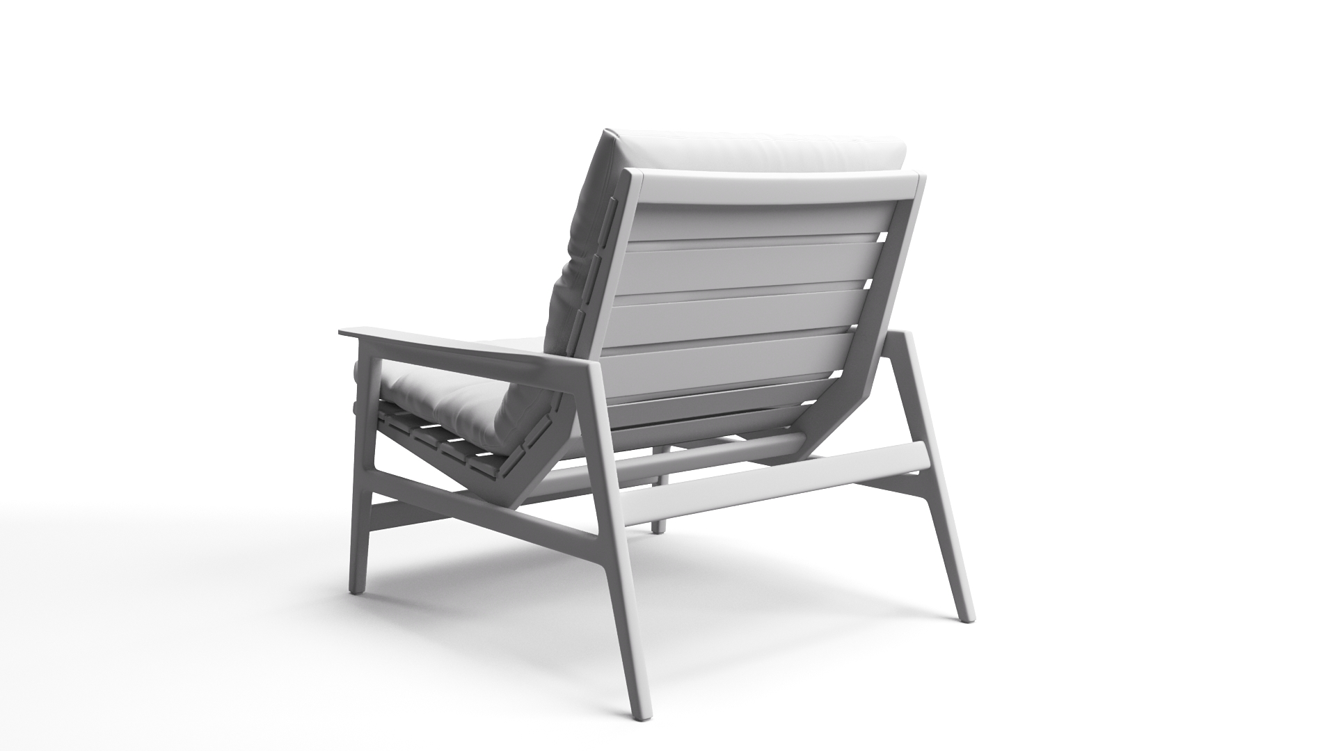 Geometry of a Chair 3D Model