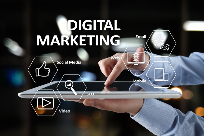A Marketer Using Digital Tools Instead of Traditional Marketing Ones