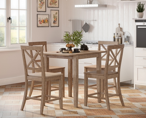 A Dining Set Lifestyle Rendering