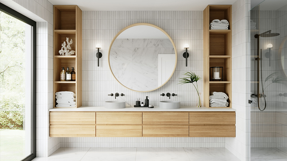 Comfy Product Lifestyle Image for a Vanity
