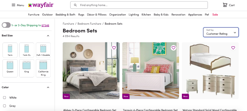 A Wayfair Online Furniture Catalog Where You Can Buy and Sell Your Goods