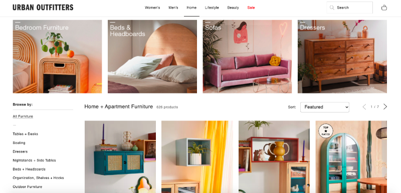 Urban Outfitters Online Catalog Where Brands Sell their Furniture and Decor Items