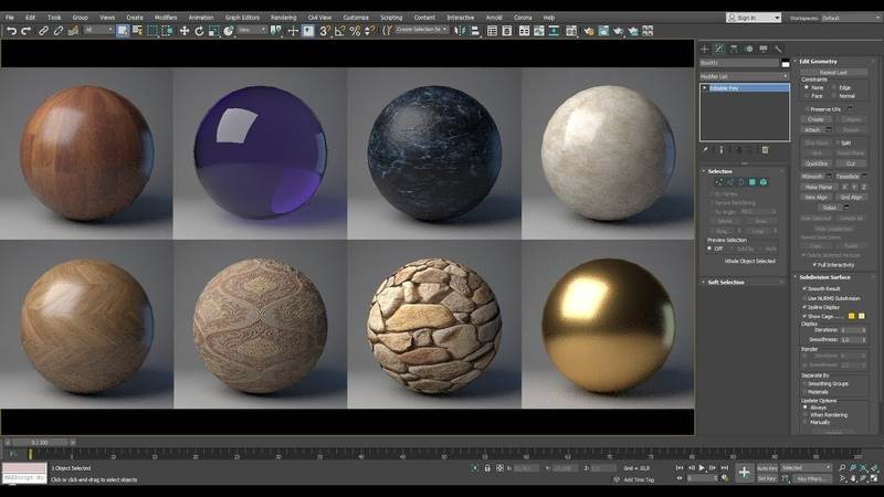 3D Max Texture Library for Furniture Modeling and Rendering