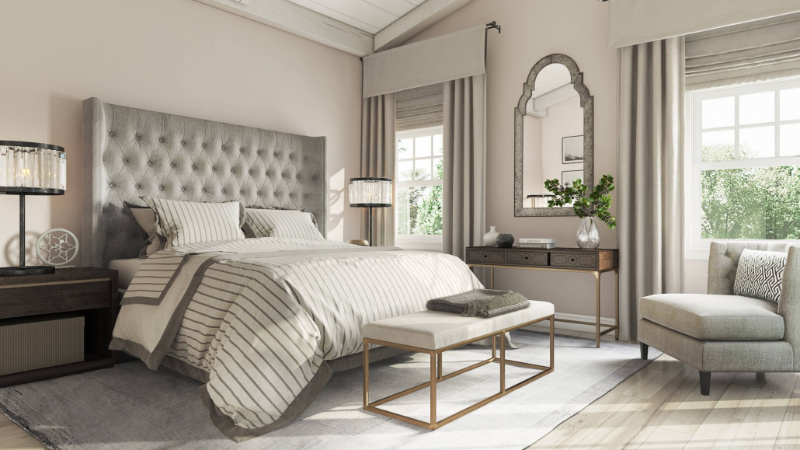3D Models from a Bedroom Furniture Set for 3D Max