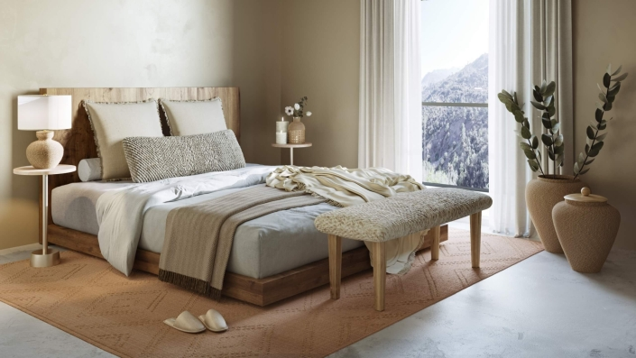 Lifestyle 3D Visualization for a Bed