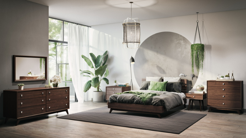 3D Rendering of a Bedroom Set in a Middle Pricing Range