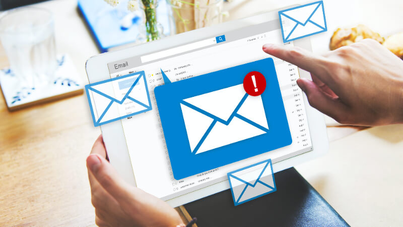 A Brand Representative Testing Email Newsletter as an Upgraded Collateral Idea