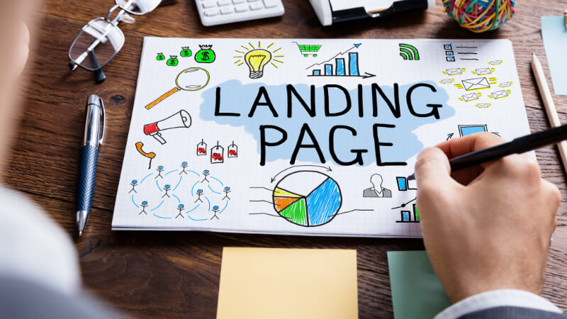 A Brand Marketer Developing their Ideas for Digital Collateral such as Landing Pages