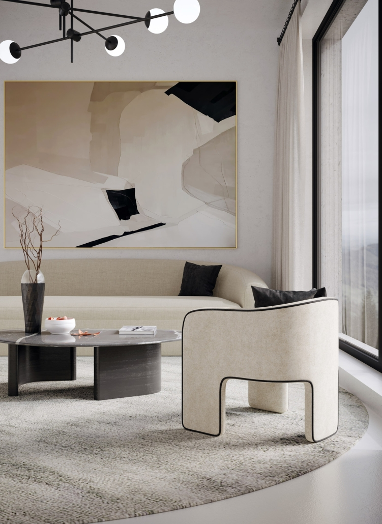 Lifestyle Rendering for a Stylish Furniture Set