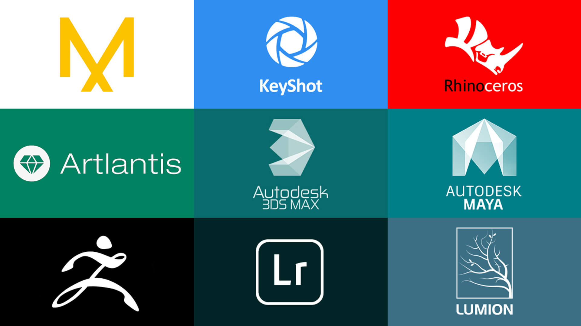 Logos of Software for Product Visualization