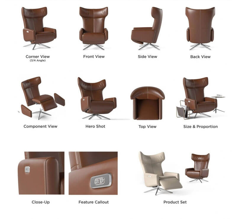 CGI Services Types: Renders with a White Background