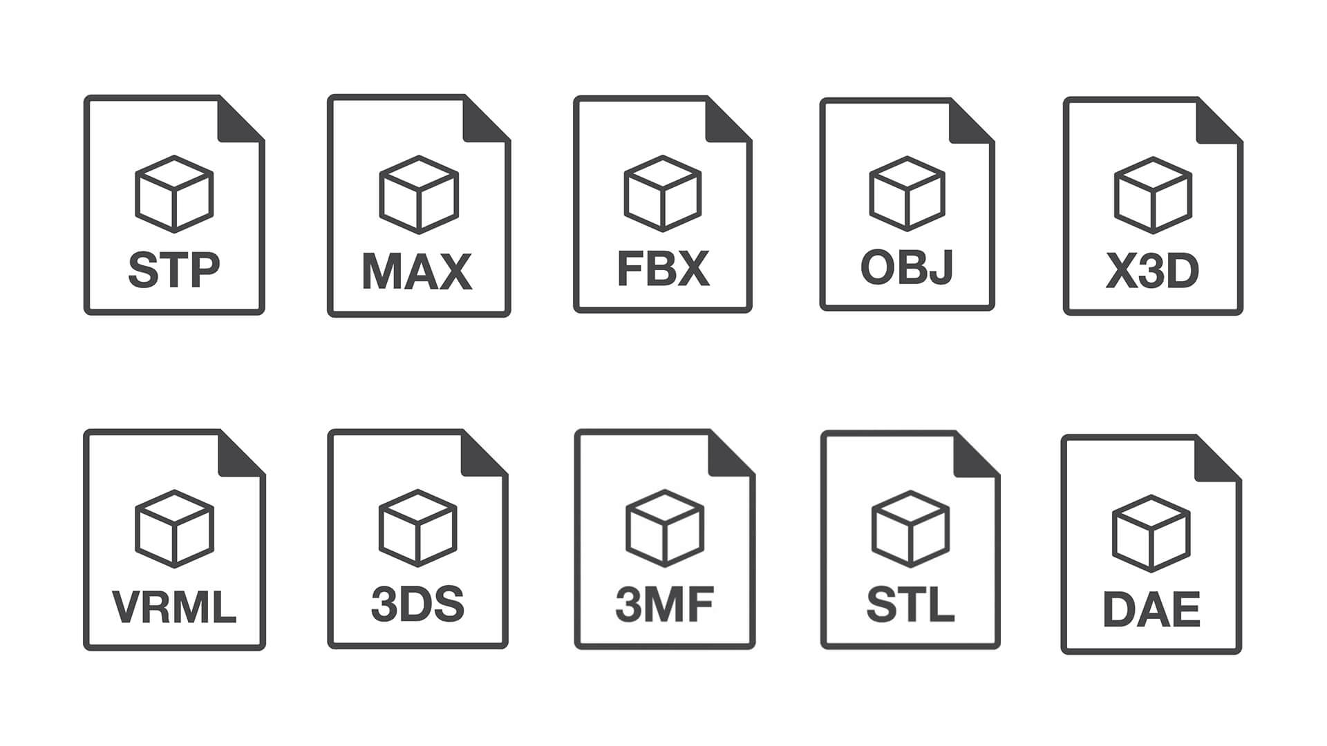 Format of 3D Files for Product Visualization