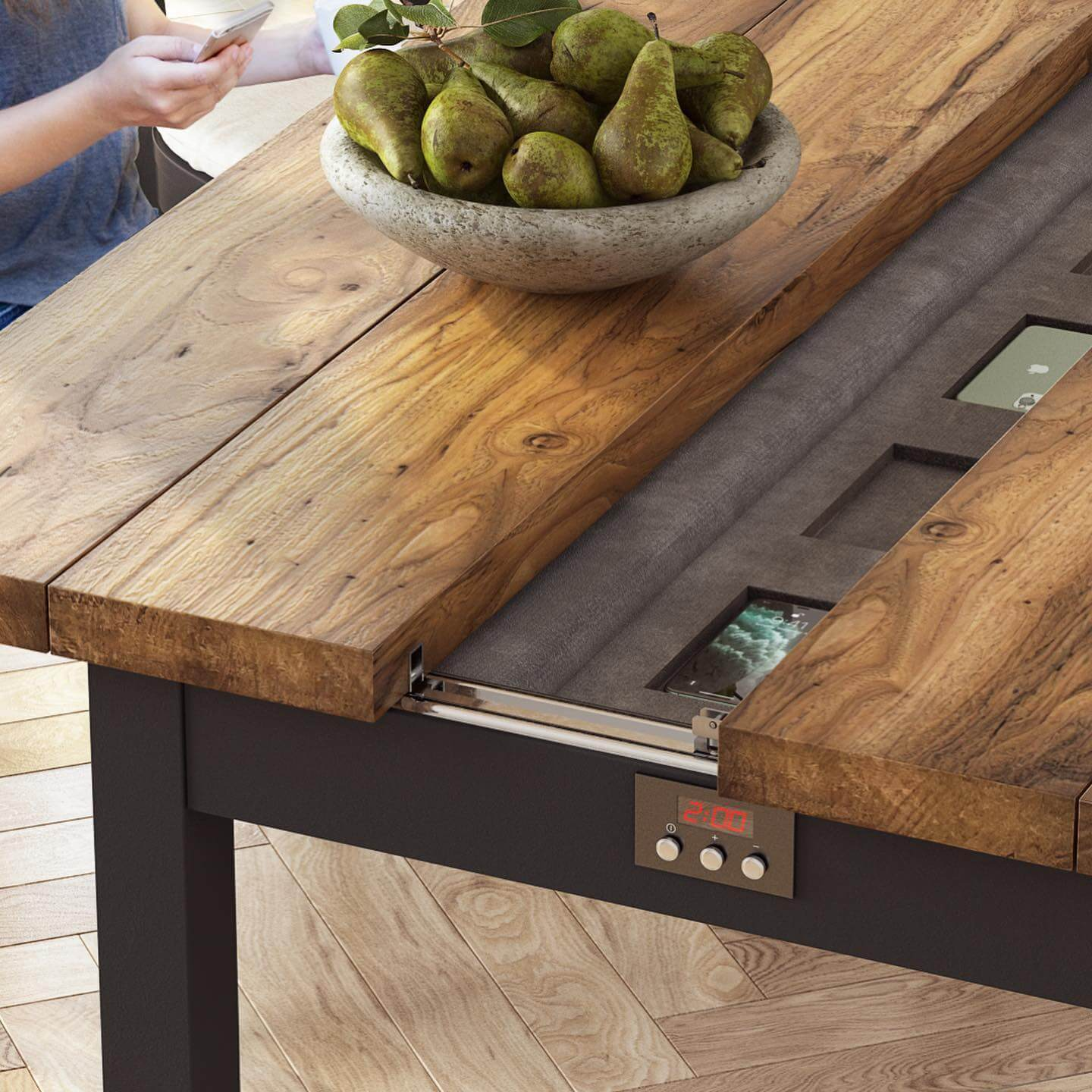 A Closeup Rendering of a Table