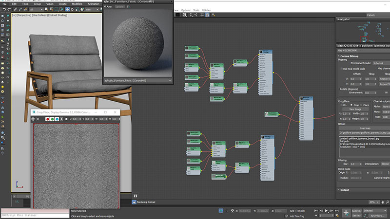 A Screenshot of Texturing an AR 3D Model of a Chair